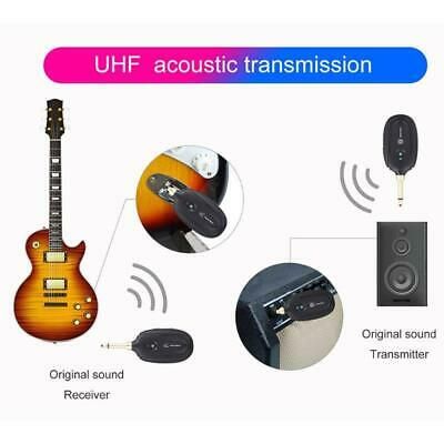 Guitar Wireless Transmitter Receiver UHF Built-in Rechargeable Guitar System Set