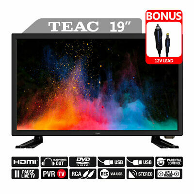 """TEAC TV 19"""" Combo Built-in DVD Player with DC 12V USB HDMI Stereo"""