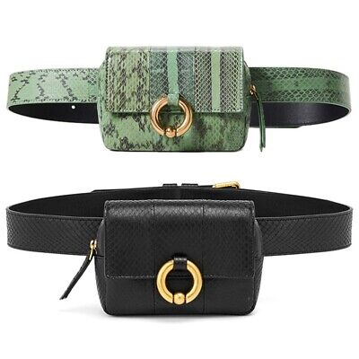 Vogue Design Waist Bags Fanny Pack For Women High-End Leather Serpentine La M5O2