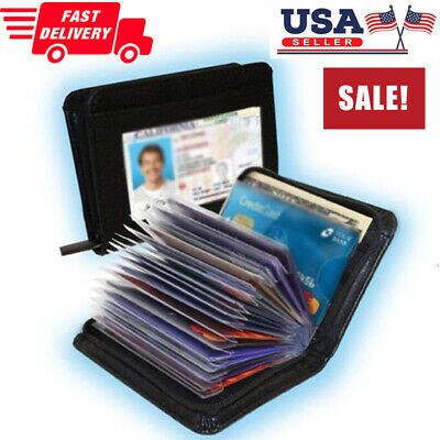 Lock Protect Wallet As Seen on TV Amazing Slim RFID Black Leather Wallet Protect