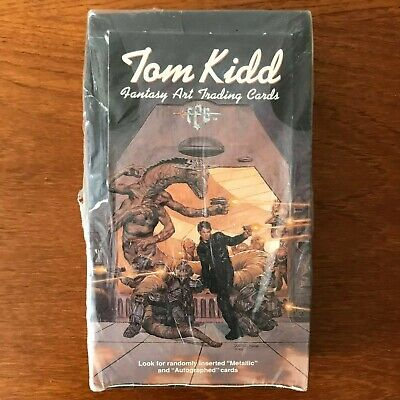 TOM KIDD FANTASY ART TRADING CARDS - Sealed box of 36 packs of cards 1995