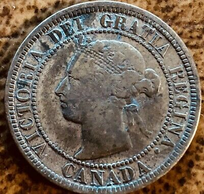 1888 Copper Canadian Canada Large Cent One Cent Coin.