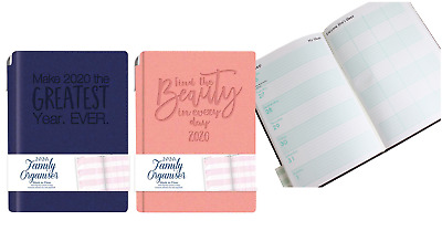 2020 Diary A6 Ladies Family Organiser Diary & Pen ,Flexi Cover Week To View