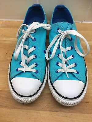 Girls ladies shoes size 5 Converse Turquoise Pink Double Tongue Pumps Trainers