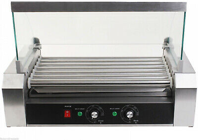 18 Hot Dog 7 Roller Grill Cooker Commercial Household Machine Stainless steel