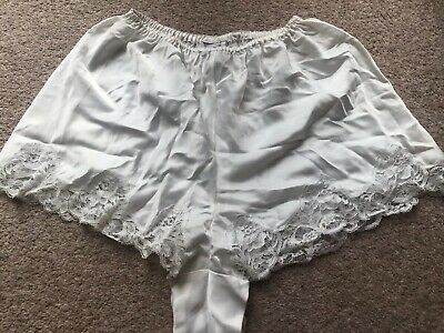 True Vintage David Nieper French Knickers Pants Nylon And Viscose Cream 70s 80s