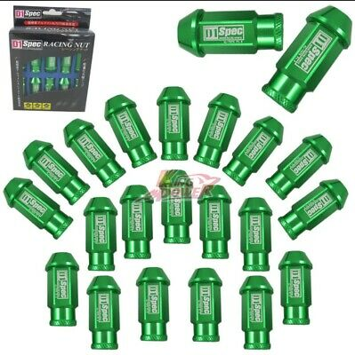 GREEN 20 Pieces D1SPEC Light Weight Billet Racing Wheel Lug Nut Nuts M12x1.25