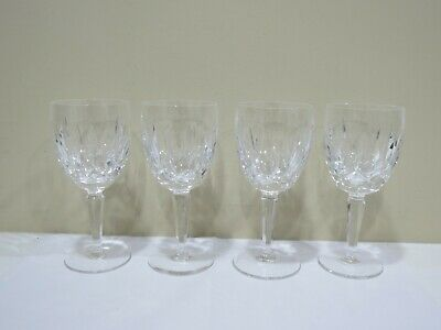 "Set of 4 WATERFORD Crystal KILDARE CLARET Wine Glasses 7"" Tall"