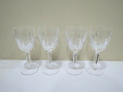 "Set of 4 WATERFORD Crystal KILDARE CLARET Wine Glasses 6.5"" Tall"