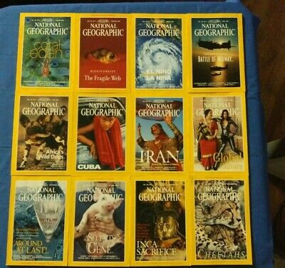 12 National Geographic Magazines from 1999 Maps FREE SHIPPING