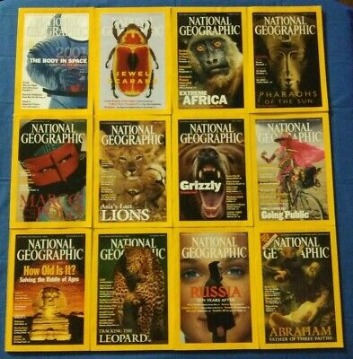 12 National Geographic Magazines from 2001 Maps FREE SHIPPING