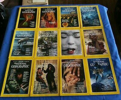 12 National Geographic Magazines from 1987 Maps FREE SHIPPING
