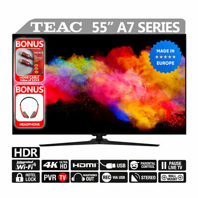 "TEAC HDR LED TV 55"" Premium UHD Dolby 4K Smart TV Built-in Wi-FI USB HDMI"
