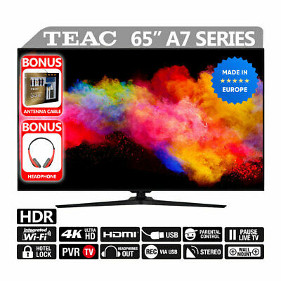 "TEAC HDR LED TV 65"" Premium UHD Dolby 4K Smart TV Built-in Wi-FI USB HDMI"