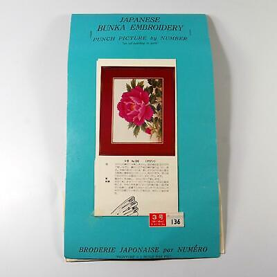 Japanese Bunka Embroidery Kit #136 Flowers Punch Picture by Number