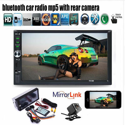 7'' HD 2Din Touch Screen Car Stereo MP5Player Radio Android IOS USB/TF+Camera 28