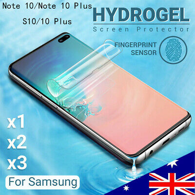 For SAMSUNG GALAXY S10 5G PLUS S10e Note 10+ HYDROGEL AQUA FLEX Screen Protector