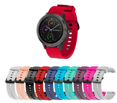For Garmin Vivoactive 3/Vivomove HR 20MM Silicone Replacement Strap Watch Band