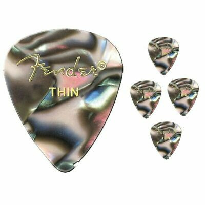 Fender Premium Colored Celluloid Guitar Picks 351 Abalone Thin - 5 Picks