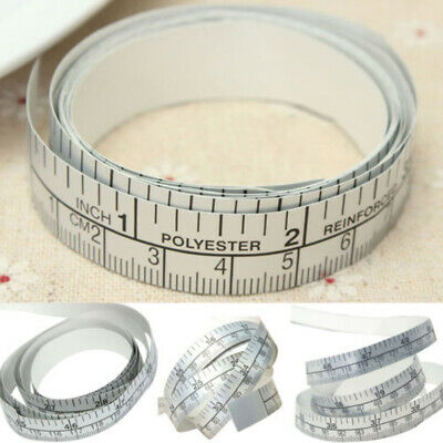 150cm Vinyl Silver Self Adhesive Sewing Machine Measuring Tape Ruler Sticker
