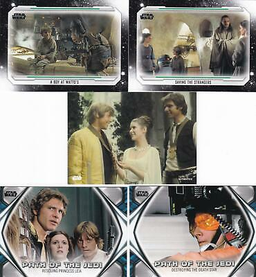 2019 Star Wars Skywalker Saga Complete Base Set (100 Cards) + Path Of Jedi Set