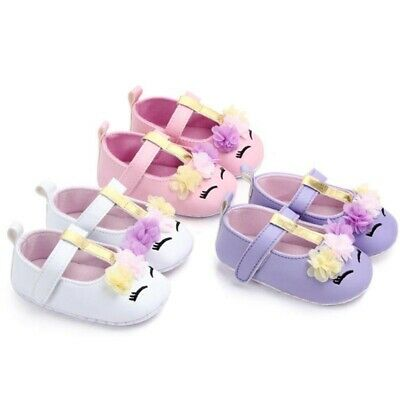 Cute Animal Unicorn Princess Kid Flower Shoes Toddler Crib First Walkers Shoes