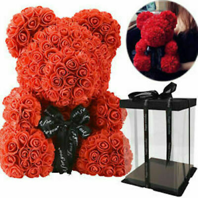 Uk Stock! Rose Teddy Bear   Valentine Gift   Wedding Party Gifts + Free Gift Box