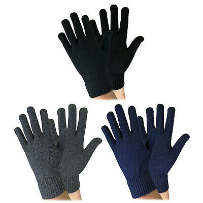 Sock Snob - Adult Mens Thin Knitted Warm Magic Thermal Wool Gloves for Winter