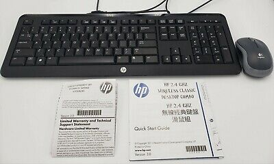 Brand New HP KB38211 Wireless Classic Keyboard and Mouse Combo