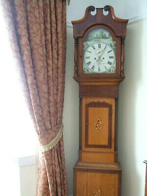 Antique Llanelly / Llanelli Grandfather Long Case  Clock