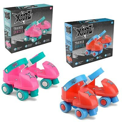 Xootz First Quad Roller Trainer Skates Beginner Toddler Junior Infant Size 5-11