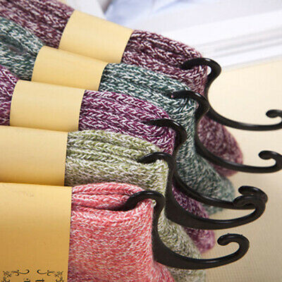 5 Pairs Men/Women Long Thick Wool Socks Warm Soft Cashmere Winter Sports Socks