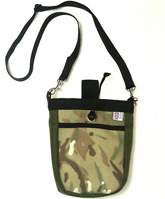 Dog Treat Bag Training Pouch Multi-Use With Shoulder Strap In Camouflage