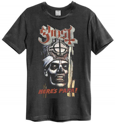 Ghost 'Here's Papa' (Charcoal) T-Shirt - Amplified Clothing - NEW & OFFICIAL!