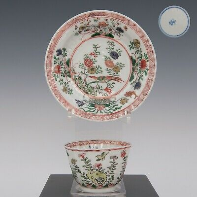 Nice Chinese Famille verte porcelain cup & saucer, Kangxi period, 18th ct.