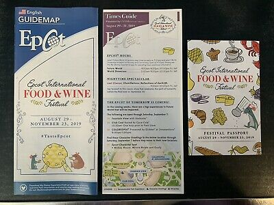 Disney Parks Epcot Food & Wine Festival 2019 Map Time Guide Passport Figment