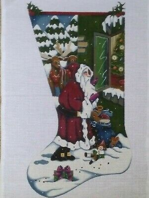 """Needlepoint Canvas by M. Shirley, 1991. 13-mesh. 15.5 by 25.5"""""""
