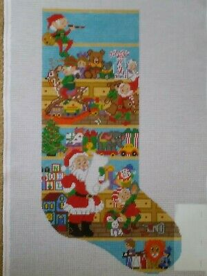 Treglown Designs Needlepoint Canvas. 12-Mesh, Santa's Workshop. M-061