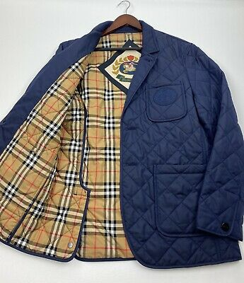 Burberry Clifton Quilted Blazer Jacket Size 50-40  RETAIL $790
