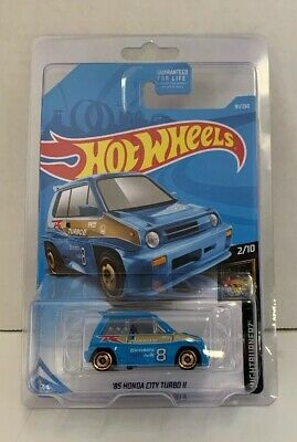 Hot Wheels 2019 Night Burnerz #2/10 Blue '85 Honda City Turbo II. NIB 1:64