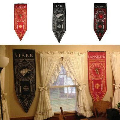 Game of Thrones House Stark Targaryen Lannister Banner Wall Hanging Flag