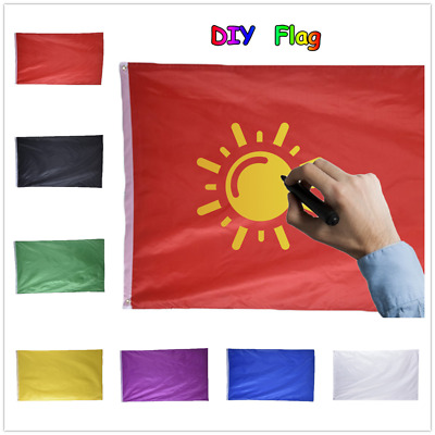 7 Colors 90x150cm Plain Flag Solid Color House Polyester Banner With 2 Grommets