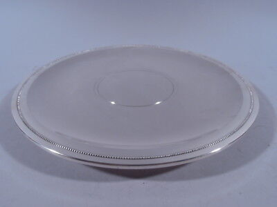 Tiffany Plate - 23672   Footed Serving Salver Tray  American Sterling Silver