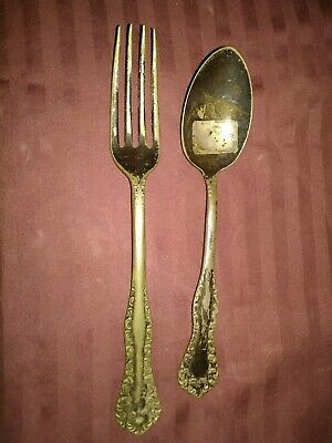 RC.Co. Small Teaspoon & Fork.  Pattern:Rose