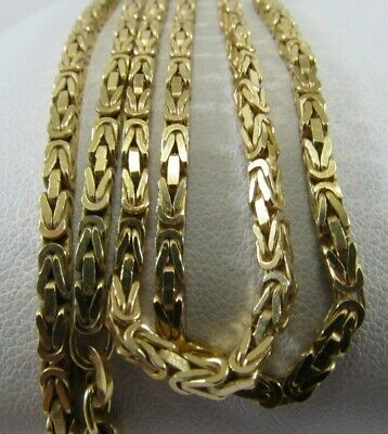 14K Solid Gold Heavy Box Byzantine Necklace   27in. L. SAVE 2,100   #1401