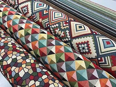 designer tapestry upholstery fabric 140cm wide , cushions, curtains, aztec