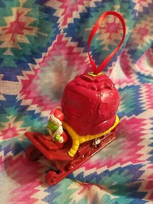 The Grinch Who Stole Christmas Tree Ornament Plastic sleigh with presents