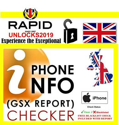 NETWORK WORLDWIDE CHECKS FAST 24 HOUR SERVICE WITH BLACKLIST CHECK FOR iPHONE
