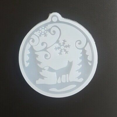 Christmas Silicone Pendant Mold Jewellry Making Resin Mould Epoxy Casting Craft