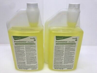 2/Pack Diversey Prominence AccuMix Heavy Duty Floor Cleaner 94996440 1qt each